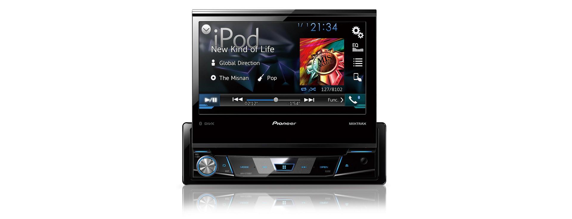 "PIONEER AVH-X7800BT 1-DIN-Moniceiver mit ausfahrbarem 7""-Touchscreen"