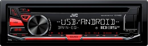 JVC KD-R482 MP3-Tuner USB rot