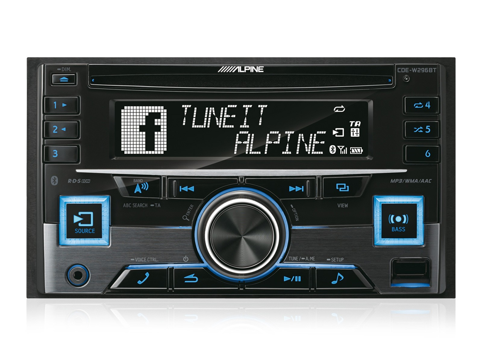 Alpine CDE-W296BT 2-DIN CD RECEIVER MIT BLUETOOTH