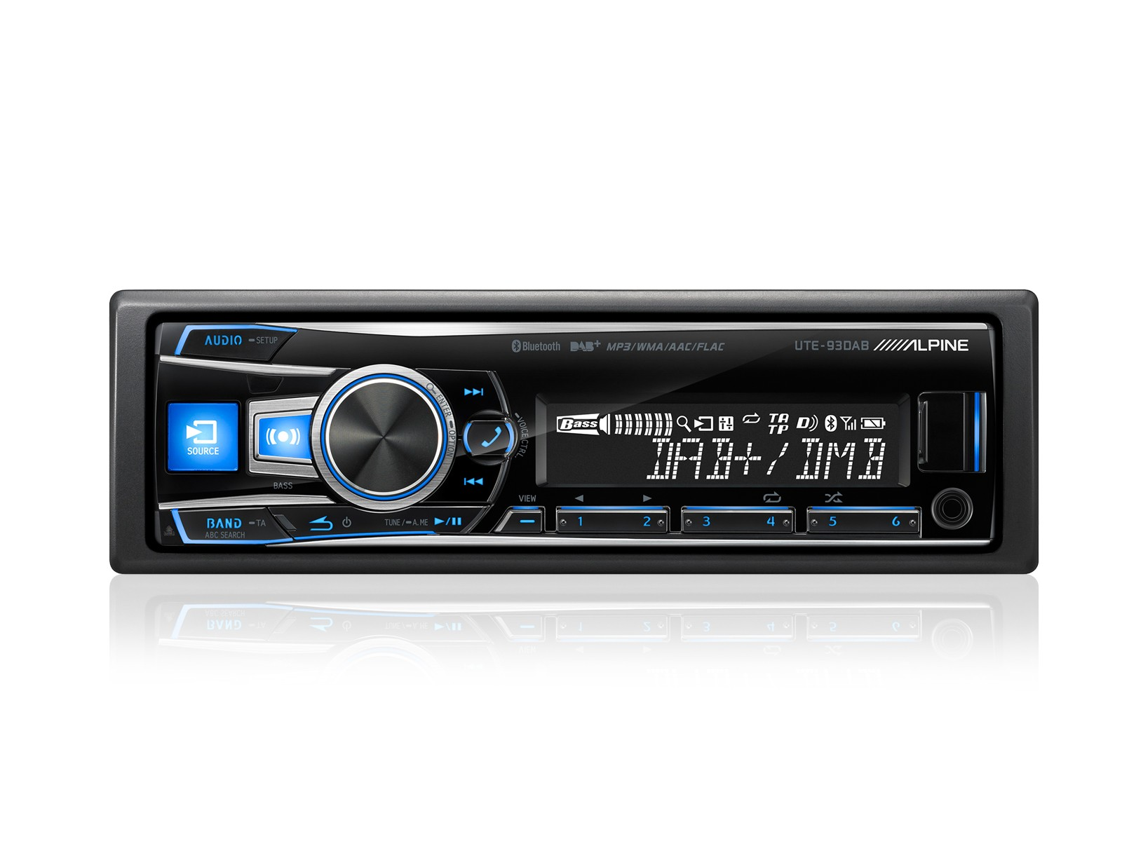 Alpine UTE-93DAB DIGITAL MEDIA/DAB+ RECEIVER MIT BLUETOOTH®