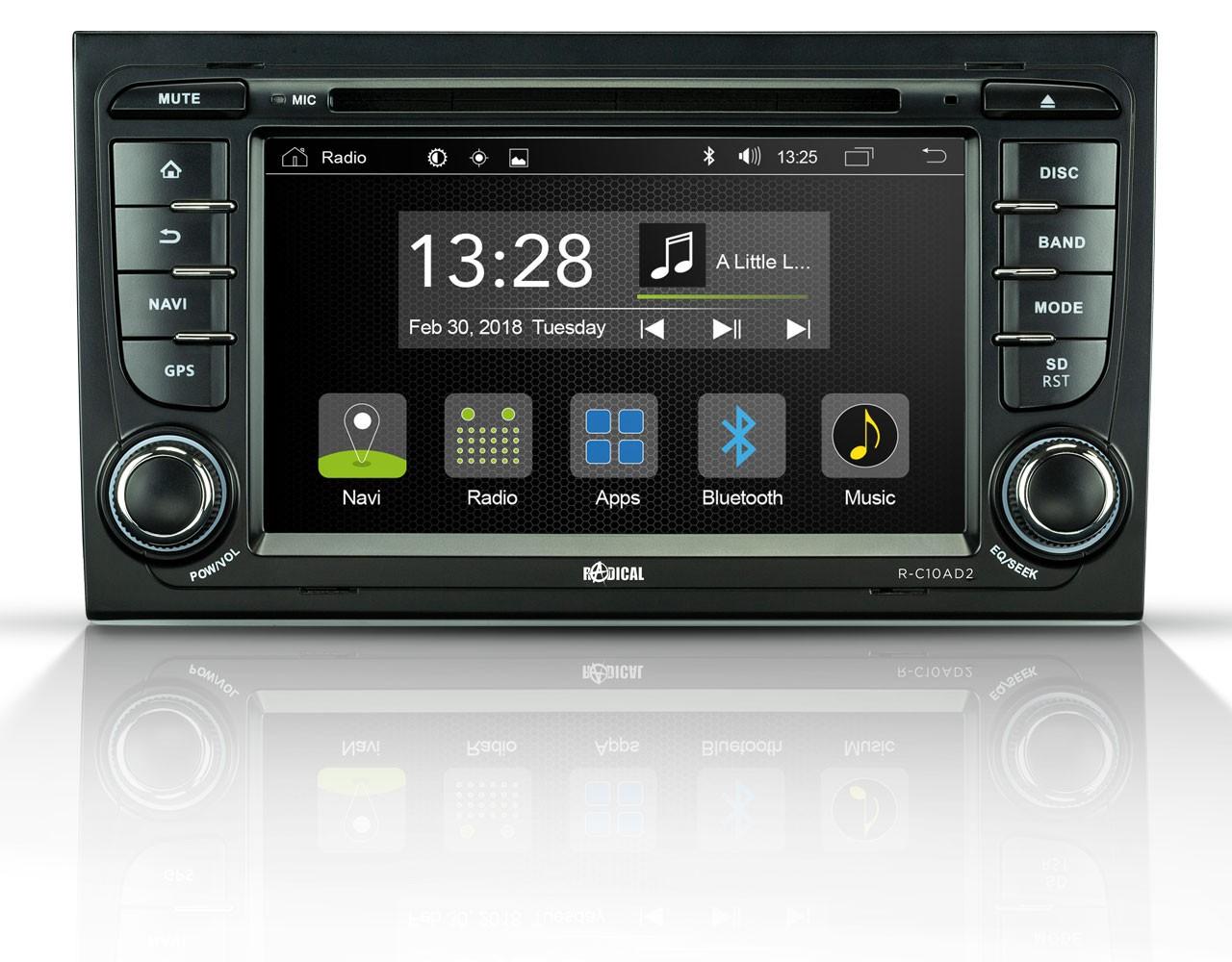Radical R-C10AD2 Fahrzeugspezifischer Infotainer für Audi A4