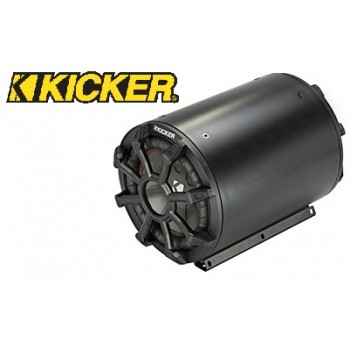 KICKER CWTB8 Kompakte Bass-Tube mit 20 cm Subwoofer