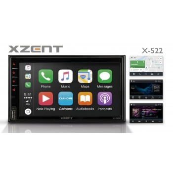 XZENT X-522 - 2Din DAB+ Infotainer mit Apple CarPlay und Android Auto