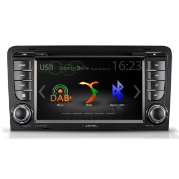 "Z-E3150 - ZENEC E>GO Infotainer mit 7"" Panel für Audi A3"